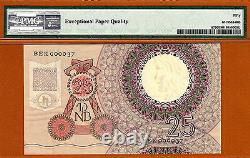 Netherlands 25 Gulden 1955 Pick-87 LOW Serial 000037 About UNC PMG 50 EPQ