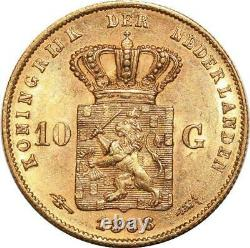 Aa102 Pays-bas 10 Gulden Willem 1888 Ou Or Unc -m Offre