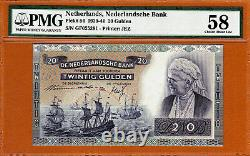 Pays-bas 20 Gulden 1941 Pick-54 Ch About Unc Pmg 58