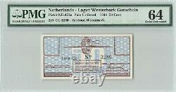 Pays-bas 50 Gulden Cent 1944 CC Witho Watermark Westerbork Pmg Choice Unc 64