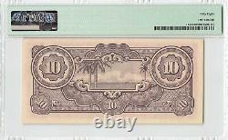 Pays-bas Indies 10 Gulden 1942 Indonesia Pick 125a Pmg Choice About Unc 58